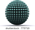 a 3d renders globe - stock photo