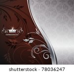 Decorative silver background - stock vector