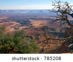 Beautiful vista in Canyonlands National Park in Utah - stock photo