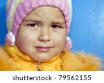 A portrait of a nice little girl - stock photo