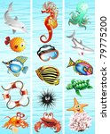 Ocean Sea Animal Background - stock photo