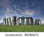 Mysterious Stonehenge in UK - stock photo