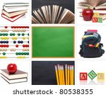 collage school concept - stock photo
