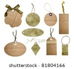Tags collection isolated on white - stock photo
