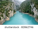 Verdon Gorge. - stock photo