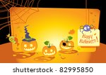 halloween greeting card with copy space - stock vector