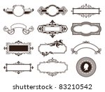 Vector set of vintage frames. - stock vector