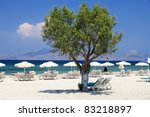 Mastichari beach on Kos Island, Dodecanese - stock photo