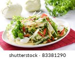 kohlrabi salad - stock photo