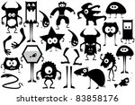 isolated clip-art aliens cartoon - stock vector