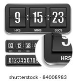 Vector countdown timer. - stock vector
