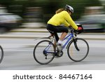 City speed biker - stock photo