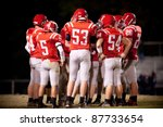 High School Football Team - stock photo