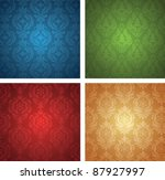 Set of a christmas wallpapers. - stock vector