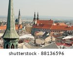 View of the city of Olomouc, Czech Republic - stock photo