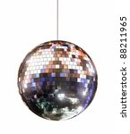 Disco ball - isolated with clipping path - stock photo
