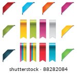 Vector ribbons set - stock vector