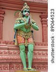 Hindu Deity Hanuman At A Temple - stock photo