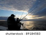 Fishing in Norway - stock photo