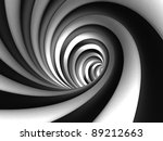 Abstract Contrast Vortex - stock photo