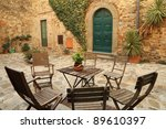 italian backyard, Tuscany - stock photo