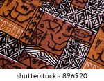 aboriginal design from a native cloth - stock photo
