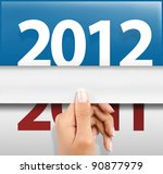 symbol of happy new year 2012 - stock photo
