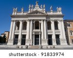 Basilica San Giovanni in Laterano, Rome, Italy - stock photo