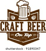 Craft Beer on Tap - stock vector