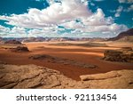 Wadi Rum Landscape - stock photo
