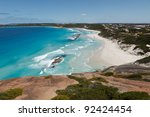 Turquoise blue beach of West Australia - stock photo