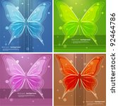 Abstract backgrounds with butterfly. Vector illustration. - stock vector