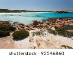 Turquise blue beach of West Australia - stock photo