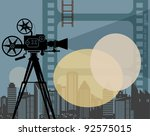 Abstract cinema background, vector illustration - stock vector