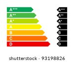 Energy Label 2012 - stock vector