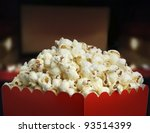 Box of popcorn - stock photo