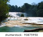 Agua Azul waterfalls,Mexico - stock photo