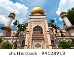 Masjid Sultan Mosque,  in Singapore - stock photo