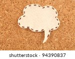 bubble fabric on cork board - stock photo