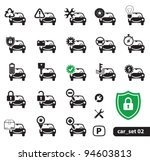 Car Service Icons, Set 02 - stock vector
