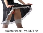 Picture a beautiful seductive female buttocks - stock photo