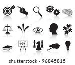 strategy concepts icons set - stock vector