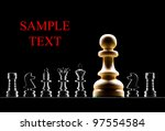 chessmen on a black background - stock photo