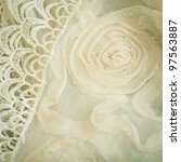 Lace and chiffon vintage background - stock photo