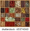 Spices  in wooden box - stock photo