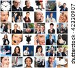 Business people. Businessmen, business women, teams - stock photo
