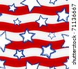 Fourth of July Stars and Stripes Seamless Background � Raster Version - stock photo
