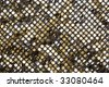 Golden fabric textured background - stock photo