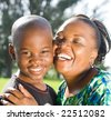 happy african mother and son - stock photo