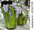 hyacinth Floral Arrangement in Vase - stock photo
